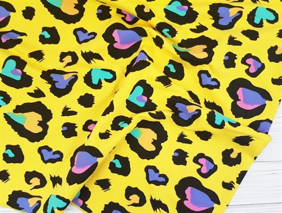 Футер 2х-нитка, Сердечки на желтом - фото 10379