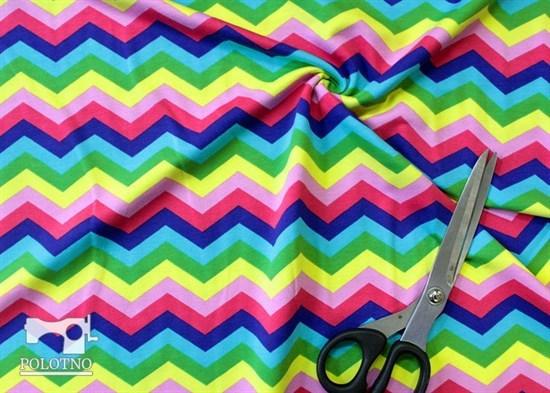 Цветной зиг-заг - кулирка - фото 10439