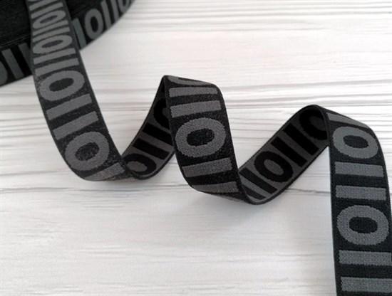 Резинка тканая, черный + серый - фото 10837