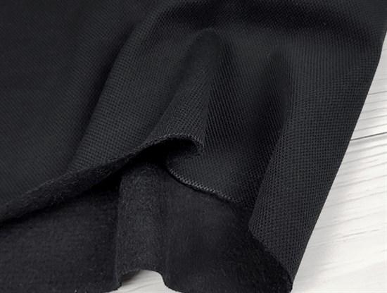 Пике Лакоста, с начесом - Черный - фото 10916