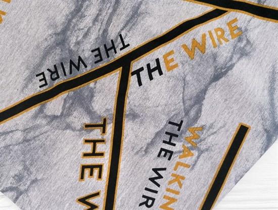 Футер 2х-нитка, THE WIRE серый меланж - фото 10939