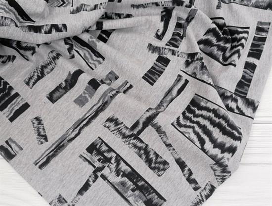 Футер 2х-нитка, Ромбы на сером - фото 10952