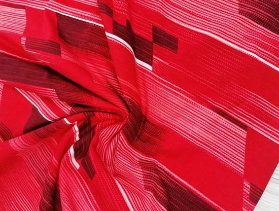 Кулирка полосы горизонты красные - фото 10954