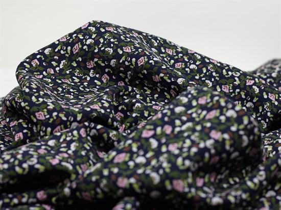 Штапель, Мелкие цветочки на черном - фото 11867