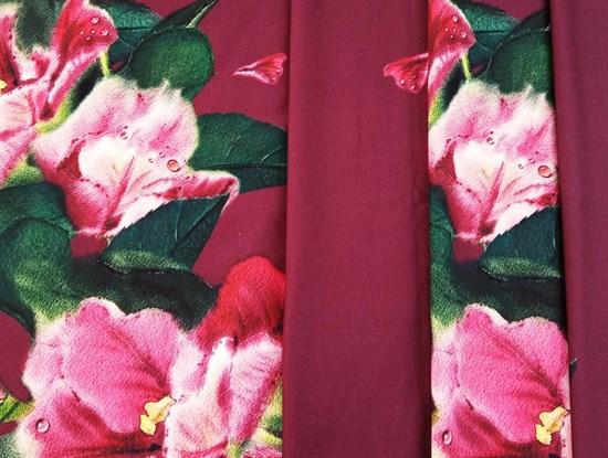 Футер 2х-нитка, Цветы - фото 11947