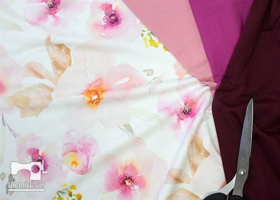 Футер 2х-нитка, Акварельные цветы - фото 12167