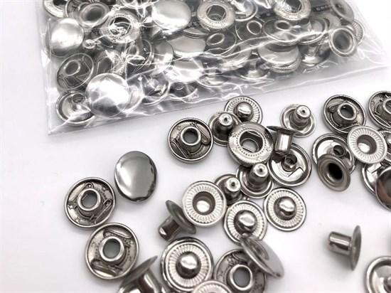 Кнопка Alfa 15мм (никель), 10шт - фото 12203