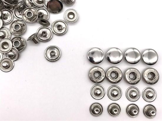 Кнопка Alfa 12,5мм (никель), 10шт - фото 12204