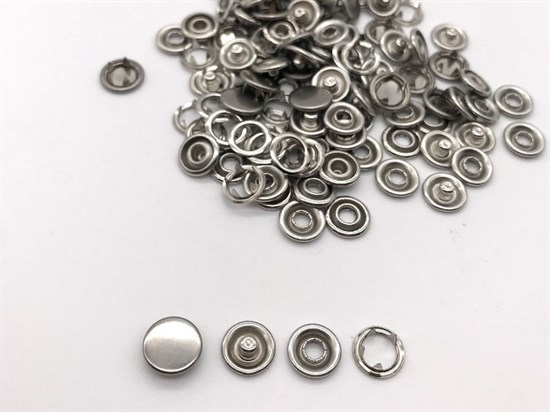 Кнопка рубашечная закрытая, 9,5мм (никель), 50шт - фото 12212