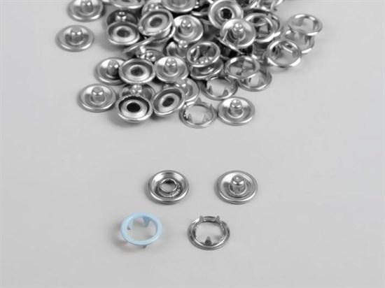 Кнопка рубашечная кольцо, 9,5мм (голубой), 30шт - фото 12215