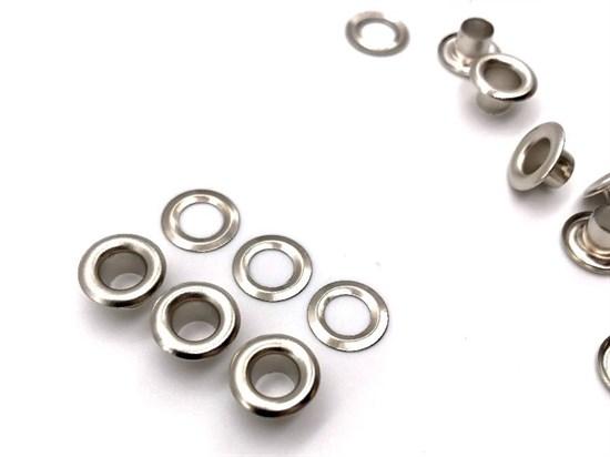 Люверсы 5мм (никель), 100шт - фото 12232