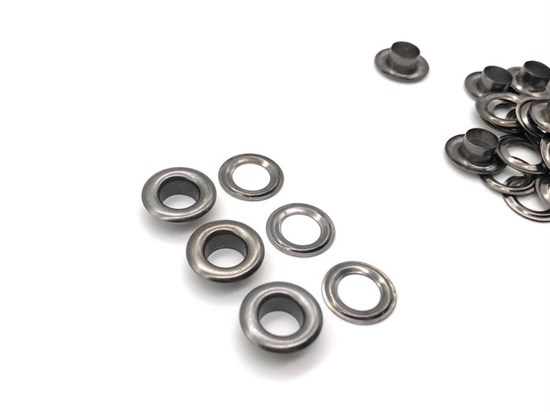 Люверсы 6мм (темный никель), 100шт - фото 12234
