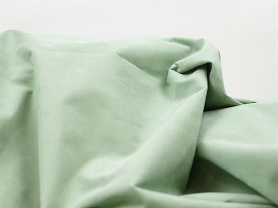 Курточная ткань с велюровым эффектом, Минт - фото 12471