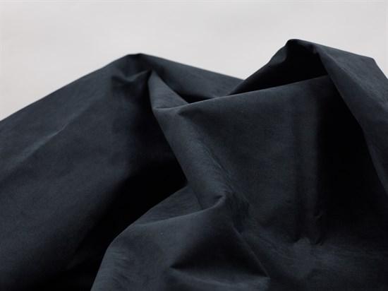 Курточная ткань с велюровым эффектом, Черный - фото 12486