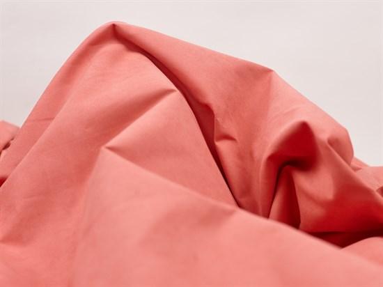 Курточная ткань с велюровым эффектом, Коралл - фото 12491