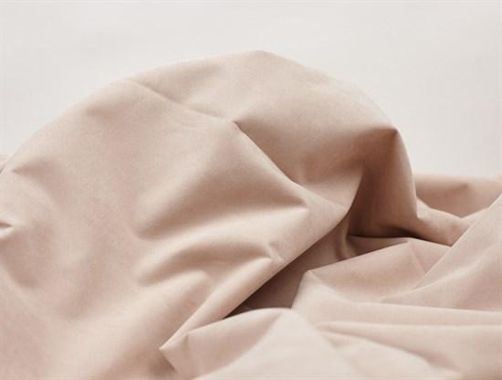 Курточная ткань с велюровым эффектом, Пудра - фото 12497