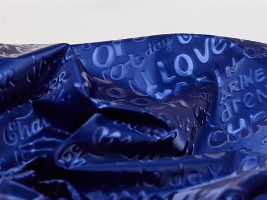 Плащевая ткань Буквы 3D, синий - фото 12746