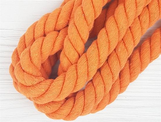 Шнур крученый, 100% хлопок, 25мм, оранжевый - фото 12866