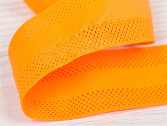 Резинка фактурная, 55мм, оранжевый неон - фото 12905