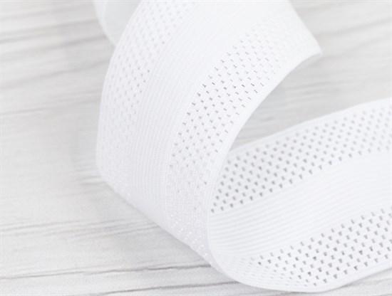 Резинка фактурная, 55мм, белая - фото 12906