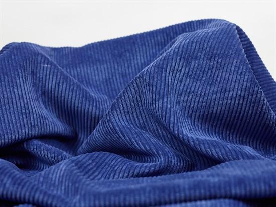 Вельвет крупный рубчик, синяя дымка - фото 13065