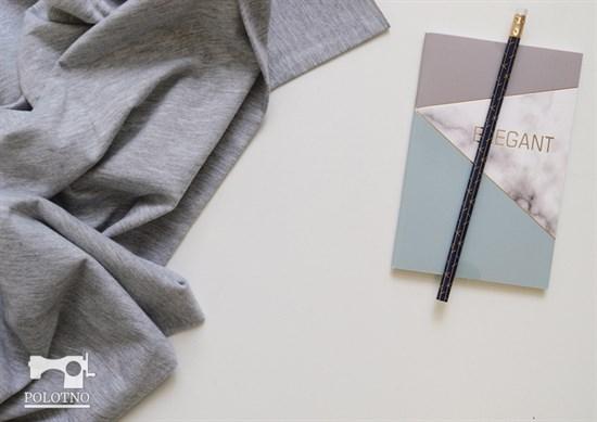 Кулирка серый меланж - фото 4674