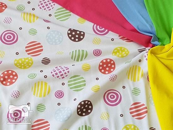 Цветные горошки - кулирка - фото 5183