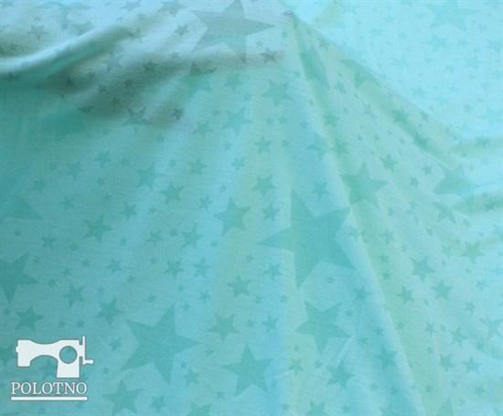 Звёзды ментол - кулирка с вытравкой - фото 5190