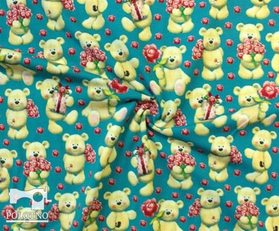 Мишки с цветами - кулирка - фото 5241