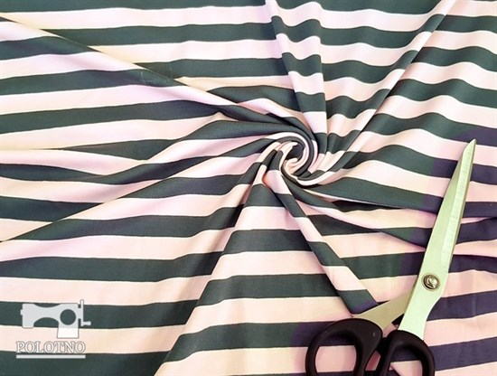 Полоска (розово-серая) - кулирка - фото 5330
