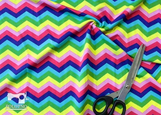 Цветной зиг-заг - кулирка - фото 5357