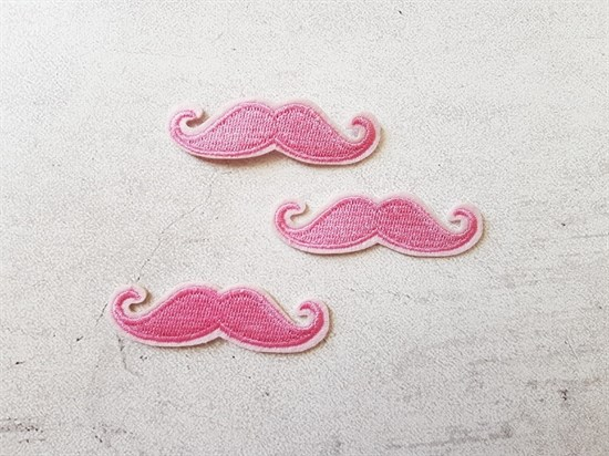 Термоаппликация, Усы светло-розовые - фото 6022