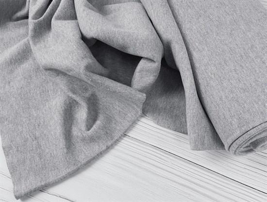 Интерлок однотонный, серый меланж - фото 6711