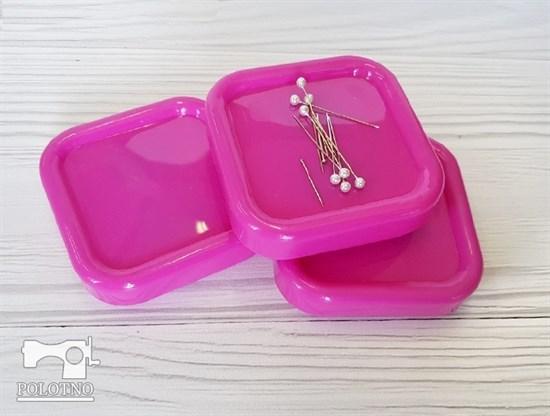 Магнитная игольница, розовая - фото 6842