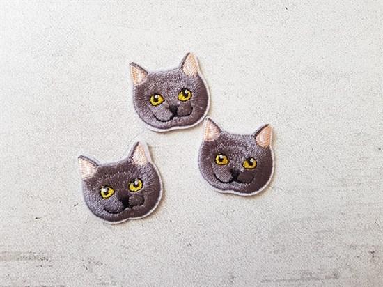 Термоаппликация, Серый кот - фото 7411