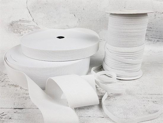 Резинка тканая, белая 20мм - фото 7427