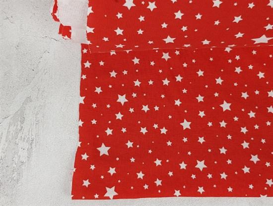 Рибана Белые звёздочки на красном - фото 7462