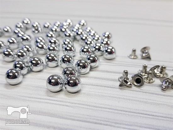 Бусины с креплением, серебро 8мм - фото 7599