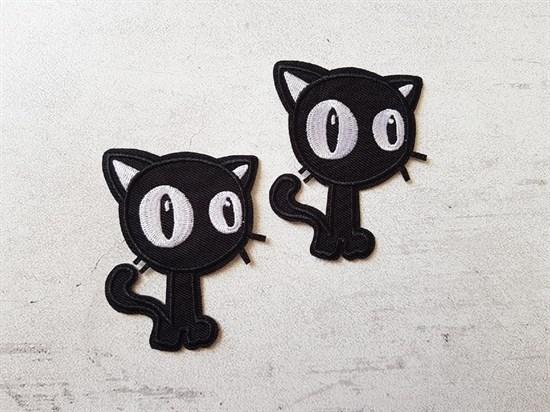 Аппликация термоклеевая, Чёрный кот - фото 7764
