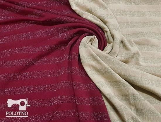 Трикотаж вязаный, с люрексом БОРДО - фото 7857