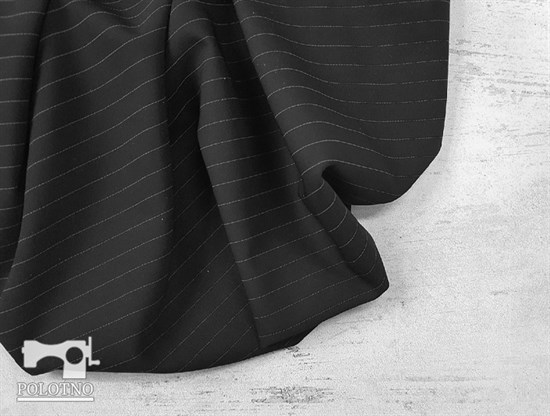 Костюмно-плательная ткань, ОРЛАНДО стрейч, цвет - ЧЕРНЫЙ - фото 7915