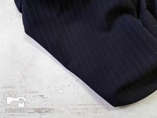 Костюмно-плательная ткань, ОРЛАНДО стрейч, цвет -ТЕМНО-СИНИЙ - фото 7918