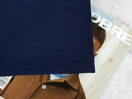 Кашкорсе плотное  (к футеру 3 нитка петля) СИНЕЕ - фото 8057