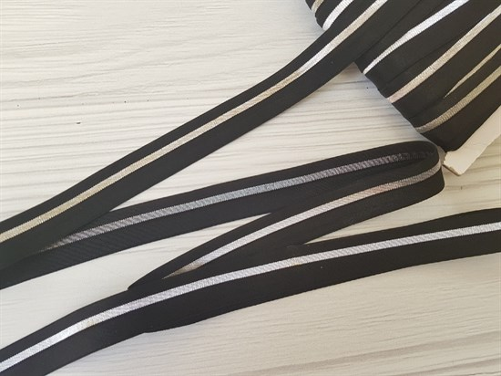 Резинка окантовочная , черный + серебро (арт. 10003404) - фото 8143