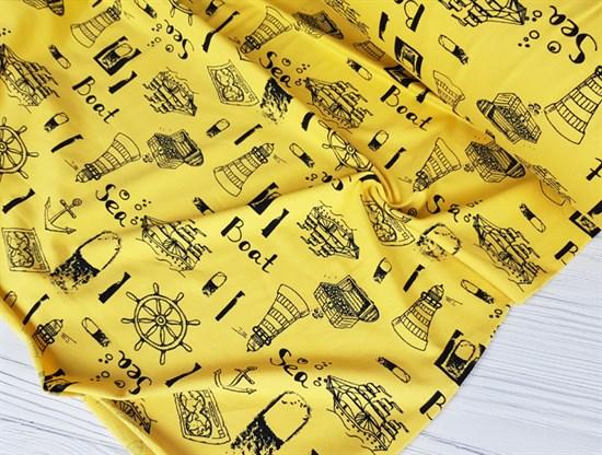 Кулирка Морская тематика на желтом - фото 8359