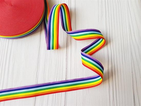 Тесьма репсовая, радуга - фото 8424
