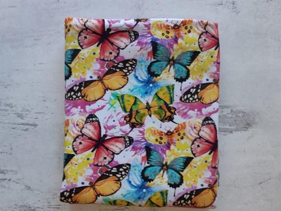 Кулирка с лайкрой - Яркие бабочки - фото 8565