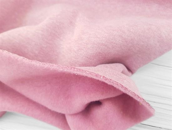 Футер 3 нитка с начесом, Розовый Меланж - фото 9364