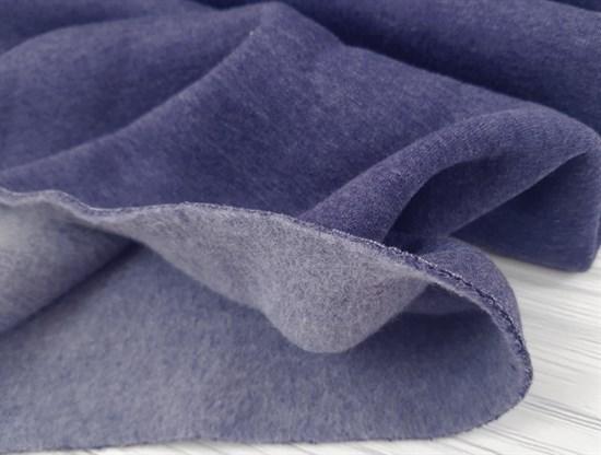 Футер 3 нитка с начесом, Темно-синий меланж - фото 9384