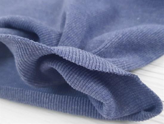Кашкорсе плотное, Голубой меланж - фото 9392